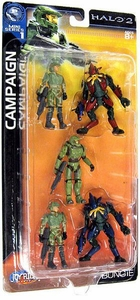 Halo 2 Mini Action Figure 1/18 Scale Campaign 5-Pack [Master Chief, Blue Elite, Red Elite, & 2 UNSC Soldiers]