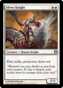 Magic: The Gathering Duel Decks: Knights vs. Dragons Single Card White Uncommon #8 Silver Knight