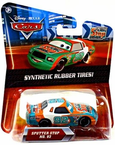 Disney / Pixar CARS Movie Exclusive 1:55 Die Cast Car with Synthetic Rubber Tires Sputter Stop