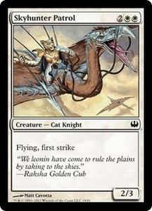 Magic: The Gathering Duel Decks: Knights vs. Dragons Single Card White Common #19 Skyhunter Patrol