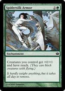 Magic: The Gathering Duel Decks: Knights vs. Dragons Single Card Green Common #32 Spidersilk Armor