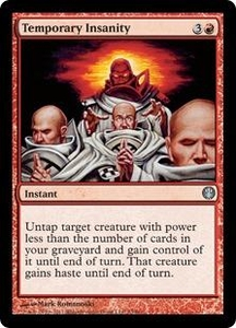 Magic: The Gathering Duel Decks: Knights vs. Dragons Single Card Red Uncommon #73 Temporary Insanity