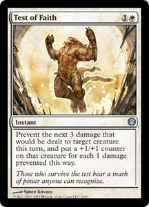 Magic: The Gathering Duel Decks: Knights vs. Dragons Single Card White Uncommon #28 Test of Faith