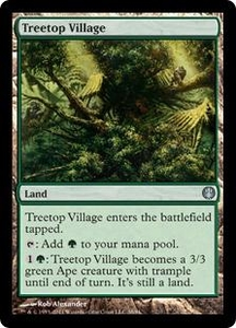 Magic: The Gathering Duel Decks: Knights vs. Dragons Single Card  Uncommon #38 Treetop Village