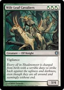 Magic: The Gathering Duel Decks: Knights vs. Dragons Single Card Multicolor Uncommon #15 Wilt-Leaf Cavaliers