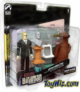 Adult Swim Series 1 Action Figure 2-Pack Phil Ken Sebben & Bear [Harvey Birdman, Attorney At Law]
