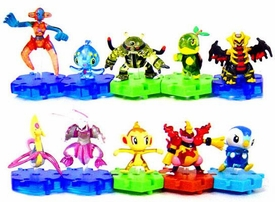 Pokemon DP Japanese PVC Series 3 Set of 10 Connecting TRANSLUCENT Figures [Includes Cressalia & Deoxys!]