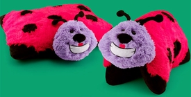 Animal Pillowz 18 Inch Deluxe Pet Plush Pillow Lucy the Lady Bug