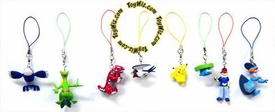 Pokemon Set of 8 PVC Figure Phone Danglers [Includes Ash, Groudon & Kyogre]