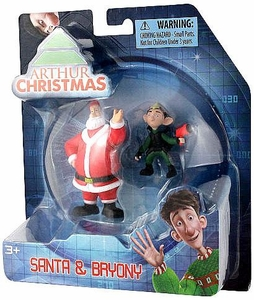 Arthur Christmas Mini Figure 2-Pack Santa & Bryony