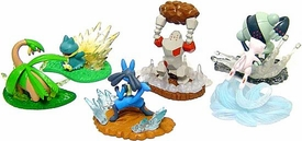Pokemon Buildable Mini Figures Set of 6 Action Battlers