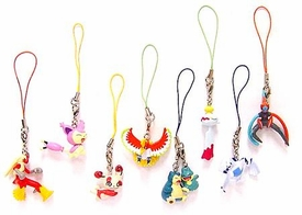 Pokemon Set of 8 PVC Figure Phone Danglers [Includes Deoxys, Ho-Oh & Blaziken]