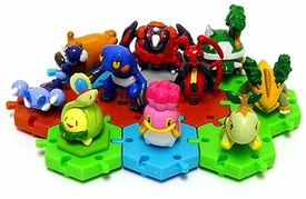 Pokemon DP Japanese PVC Series 1 Set of 10 Connecting Figures [Includes Torterra & Grotle!]