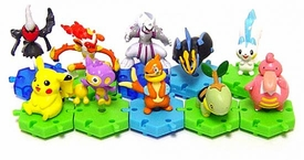 Pokemon DP Japanese PVC Series 2 Set of 10 Connecting Figures [Includes Empoleon & Infernape!]
