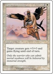 Magic the Gathering Starter 2000 Single Card Common Angelic Blessing