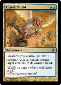 Magic the Gathering Duel Decks: Venser vs. Koth Single Card Gold Uncommon #27 Angelic Shield
