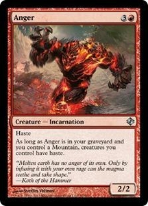 Magic the Gathering Duel Decks: Venser vs. Koth Single Card Red Uncommon #51 Anger