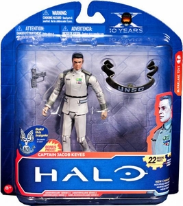 Halo McFarlane Toys 10th Anniversary Series 2 Action Figure Captain Jacob Keyes COLLECTOR'S CHOICE!