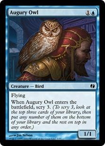Magic the Gathering Duel Decks: Venser vs. Koth Single Card Blue Common #3 Augury Owl
