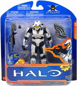 Halo McFarlane Toys 10th Anniversary Series 2 Action Figure Spartan Mark VI [White / Blue]