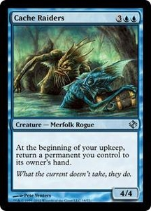 Magic the Gathering Duel Decks: Venser vs. Koth Single Card Blue Uncommon #18 Cache Raiders