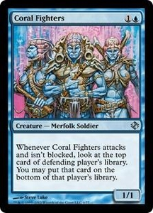 Magic the Gathering Duel Decks: Venser vs. Koth Single Card Blue Uncommon #4 Coral Fighters