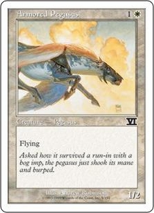 Magic the Gathering Starter 2000 Single Card Common Armored Pegasus