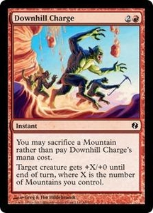 Magic the Gathering Duel Decks: Venser vs. Koth Single Card Red Common #69 Downhill Charge