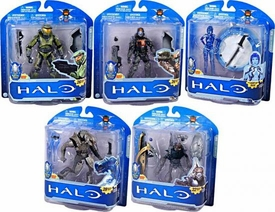 Halo McFarlane Toys 10th Anniversary Series 1 Set of 5 Action Figures [Master Chief, Arbiter, Dutch, Cortana & Grunt]