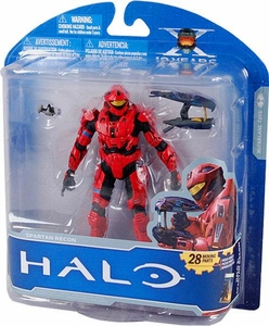 Halo McFarlane Toys 10th Anniversary Series 1 ADVANCE Exclusive Action Figure RED Spartan Recon