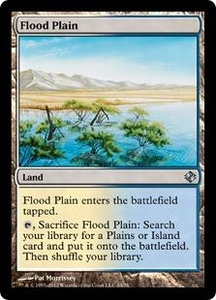 Magic the Gathering Duel Decks: Venser vs. Koth Single Card Land Uncommon #34 Flood Plain