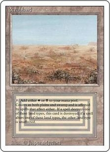 Magic the Gathering Revised Edition Single Card Rare Scrubland Near/Mint