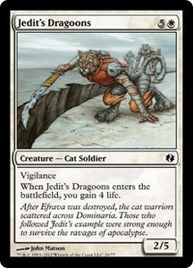 Magic the Gathering Duel Decks: Venser vs. Koth Single Card White Common #20 Jedit's Dragoons