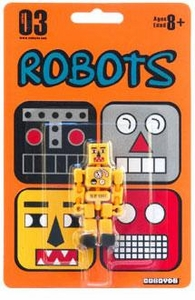 Cuboyds Series 03 Mini Super Articulated Action Figure Robots Cuboyd ro-1235 (Yellow)
