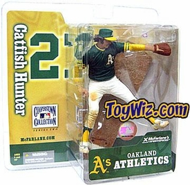McFarlane Toys MLB Cooperstown Series 2 Action Figure Jim Catfish Hunter (Oakland Athletics) Green Jersey