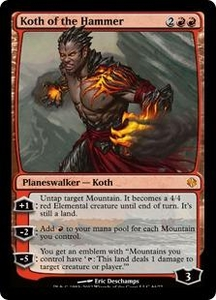 Magic the Gathering Duel Decks: Venser vs. Koth Single Card Red Mythic Rare #44 Koth of the Hammer
