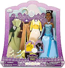 Disney The Princess and the Frog Exclusive Tiana Doll and Wardrobe Play Set