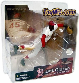 McFarlane Toys MLB Cooperstown Series 1 Action Figure Bob Gibson (St. Louis Cardinals) White Jersey