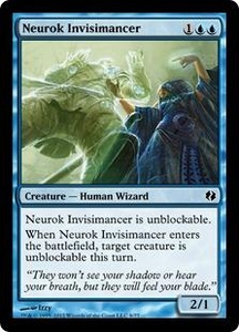 Magic the Gathering Duel Decks: Venser vs. Koth Single Card Blue Common #8 Neurok Invisimancer
