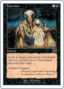 Magic the Gathering Starter 2000 Single Card Common Coercion