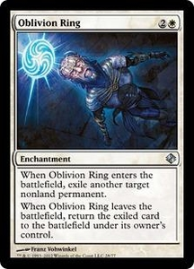 Magic the Gathering Duel Decks: Venser vs. Koth Single Card White Uncommon #28 Oblivion Ring