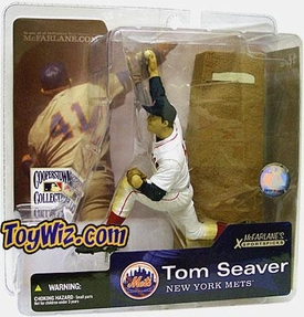 McFarlane Toys MLB Cooperstown Series 1 Action Figure Tom Seaver (Boston Red Sox) Red Sox Uniform Variant