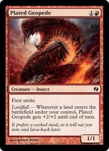Magic the Gathering Duel Decks: Venser vs. Koth Single Card Red Common #45 Plated Geopede