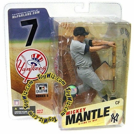McFarlane Toys MLB Cooperstown Series 3 Action Figure Mickey Mantle (New York Yankees)