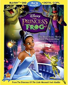 Disney The Princess and the Frog 3 Disc Blu-Ray DVD Combo with Digital Copy