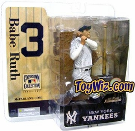 McFarlane Toys MLB Cooperstown Series 2 Action Figure Babe Ruth (New York Yankees) White Jersey