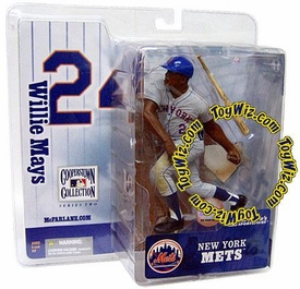 McFarlane Toys MLB Cooperstown Series 2 Action Figure Willie Mays (New York Mets) Mets Uniform Variant