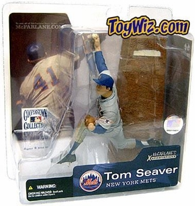 McFarlane Toys MLB Cooperstown Series 1 Action Figure Tom Seaver (New York Mets) Mets Gray Jersey