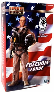 Elite Force Freedom Force 1/6 Collectible Action Figure US Navy F-14 Tomcat Pilot