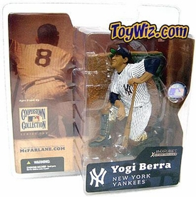 McFarlane Toys MLB Cooperstown Series 1 Action Figure Yogi Berra (New York Yankees) Regular Hat Variant